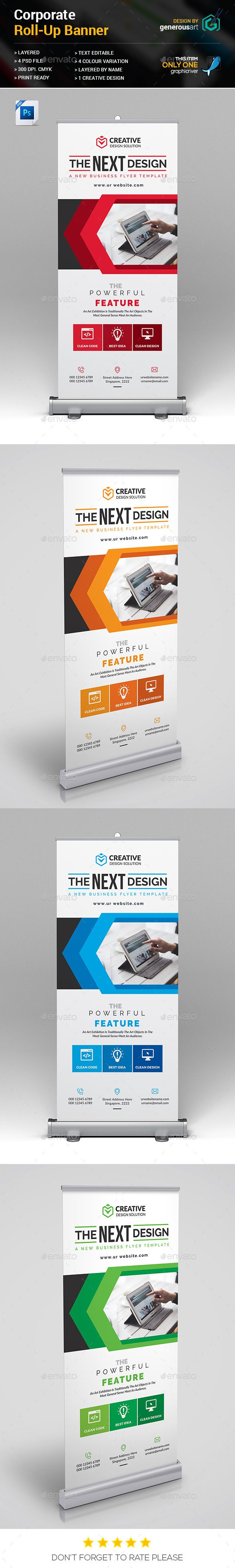Roll-Up Banner by generousart File Information: Easy Customizable and EditableSi...