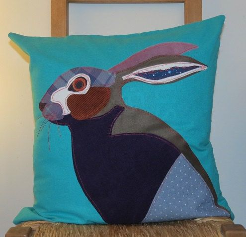 Hare Cushion Hare Pillow Pillow Cover Cushion by RoobarbTree, £32.00