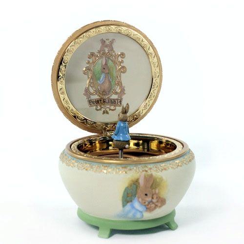 San Francisco Music Box Beatrix Potter And Peter Rabbit Hinged Trinket Giving Gallery