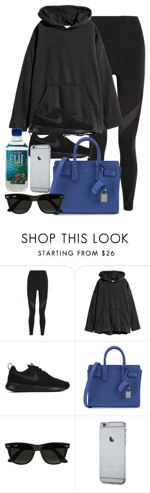 """""""Style #11636"""" by vany-alvarado ❤ liked on Polyvore featuring NIKE, Yves Saint Laurent and Ray-Ban"""