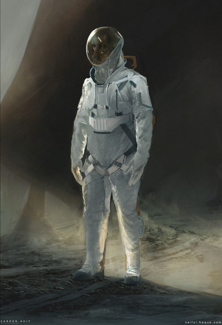 Space suit, Saiful Haque on ArtStation at https://www.artstation.com/artwork/lR0PY
