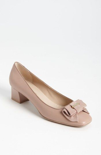 Salvatore Ferragamo My Muse Beige Vara Pump