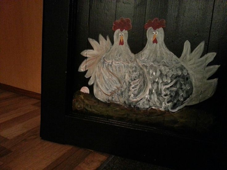 Høns på dør / chickens on a door