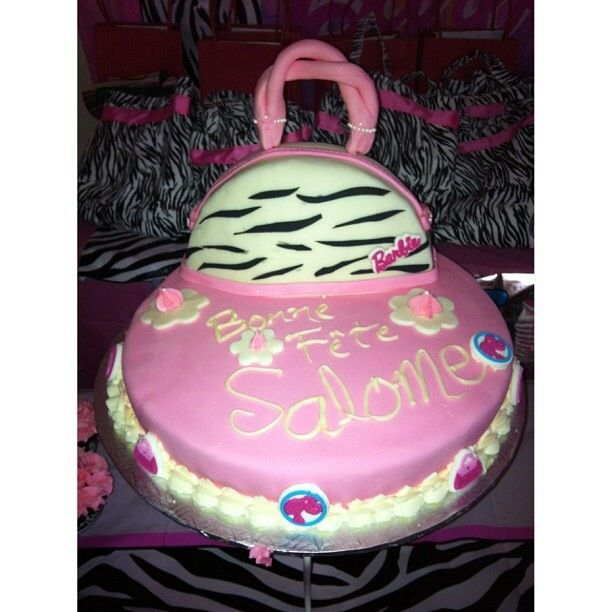 Barbie Purse Zebra Cake by me!