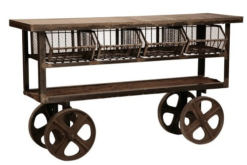 Industrial trolley cart.  Love.