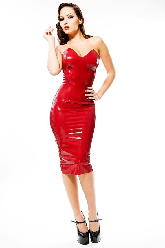 Patricia Latex Rubber Strapless Dress Strapless Dress