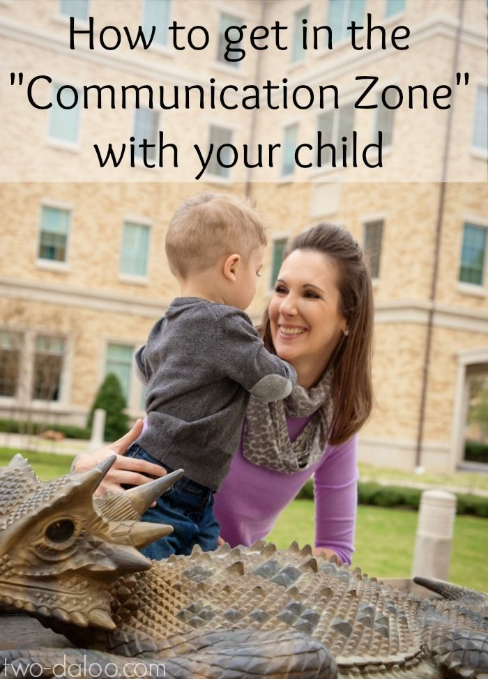 """Wondering how to help your toddler develop speech and language skills? The first step- getting into the """"communication zone"""" with your child. Here's how!"""