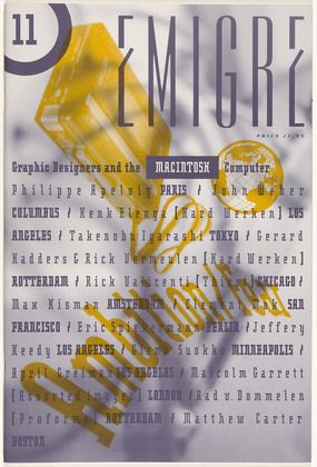 "Rudy Vanderlans  1989 (Digital Revolution) cover for ""Emigre 11"" magazine  I have this one in PRINT!!"