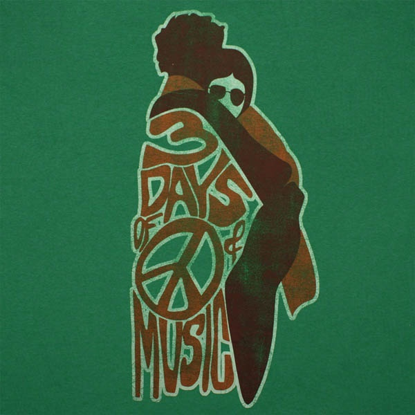 A T-Shirt Design for the Woodstock Music and Arts Festival from The Bethel Woods Center for the Arts