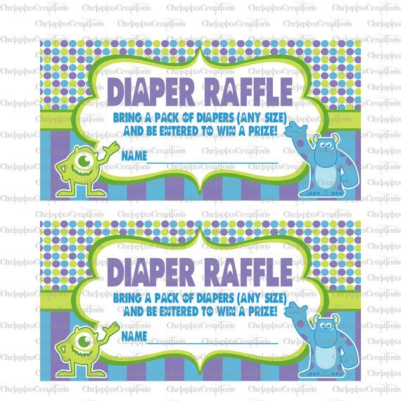 INSTANT DOWNLOAD Monsters Inc Baby Shower By ChrispixsCreations, $6.00