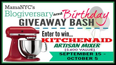 KitchenAid Artisan Mixer Giveaway! ($400 Value) #WinKitchenAid - Virtually Yours