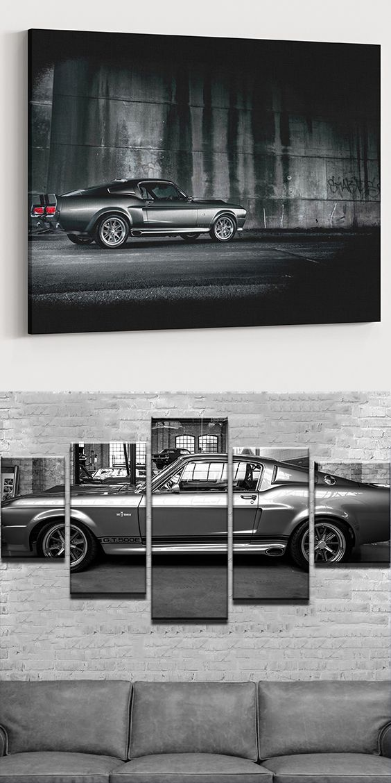 Ford Mustang GT 500 Eleanor Canvas Set! What a beauty!