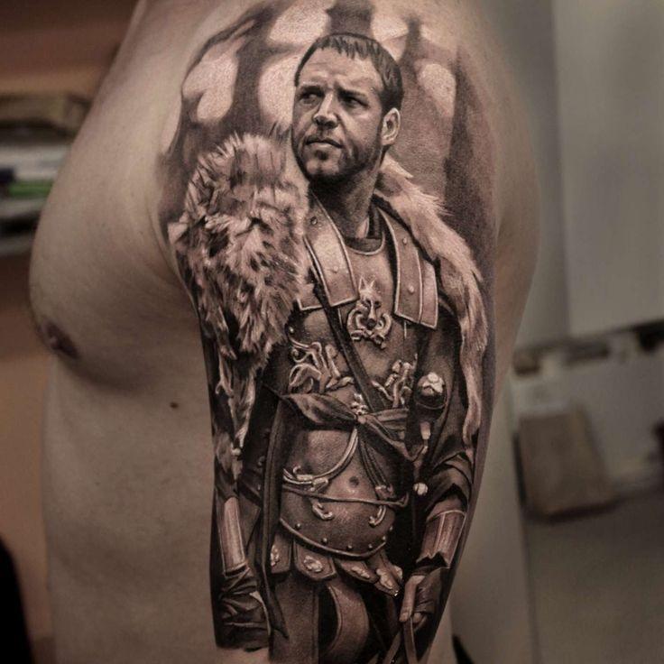 Настя Форман #tattoo #bngtattoo #blackandgrey #movie #portrait #realism #gladiator