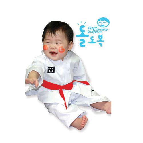 Mooto Dolbok 1st birthday Uniform Korea TaeKwonDo uniformsTKD dobok Tae Kwon Do