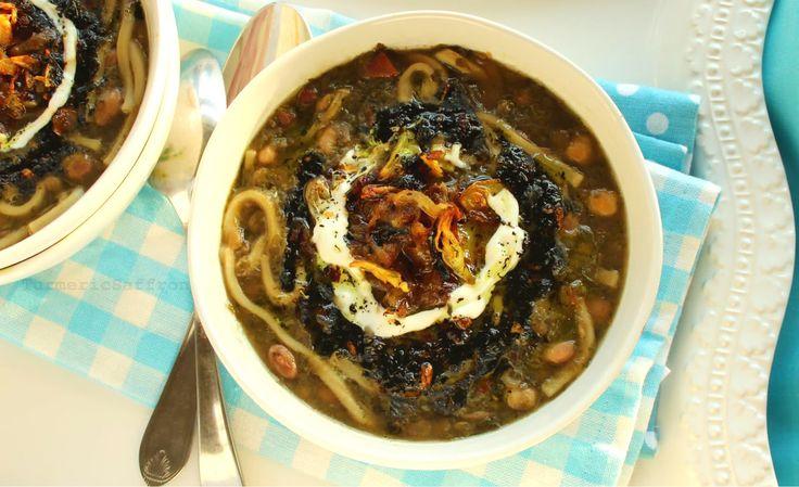 Turmeric & Saffron: Ash Reshteh - Persian Bean and Noodle Thick Soup