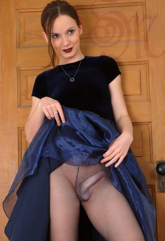 Secretary pantyhose strip