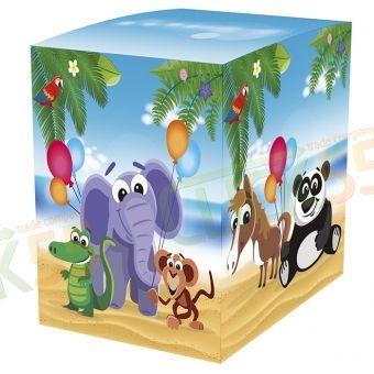 """Подарочная коробка для кружки """"Детская"""", упаковка для детского подарка, милые зверушки, слон великолепен"""