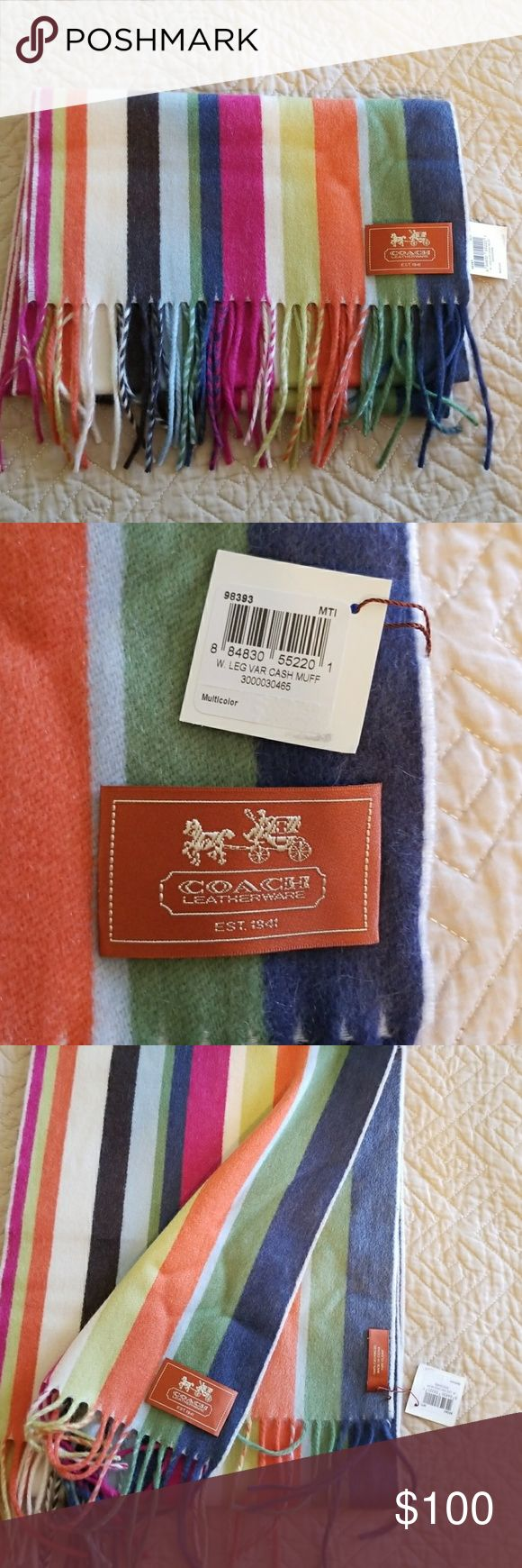 Coach legacy cashmere scarf. ***BRAND NEW WITH TAGS!!!! - I bought it and never used it.  - Box not included. Coach legacy cashmere scarf. Coach Accessories Scarves & Wraps