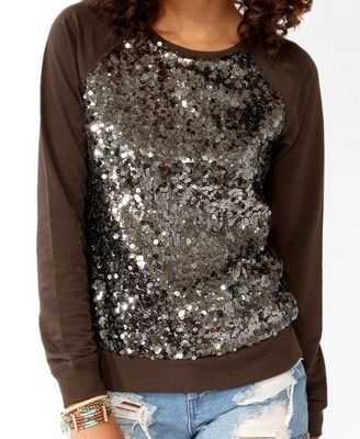 Sequin sweatshirt - $22.80 I'd like if different color but still soups cute-I think I may try to make something similar:)