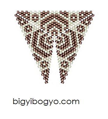Bigyibogyó: Bronz-fehér peyote háromszög