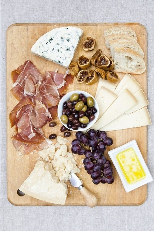 cheese board - minus the olives