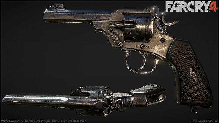 Far Cry 4 : Webley : 1, Greg Rassam on ArtStation at http://www.artstation.com/artwork/far-cry-4-webley-1