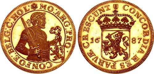 LOW COUNTRIES, Republiek der Zeven Verenigde Nederlanden (Dutch Republic). Holland. 1581-1795. AV 'Rijksdaalder' (40mm, 34.63 g, 12h). Dordrecht mint. Dated 1687.