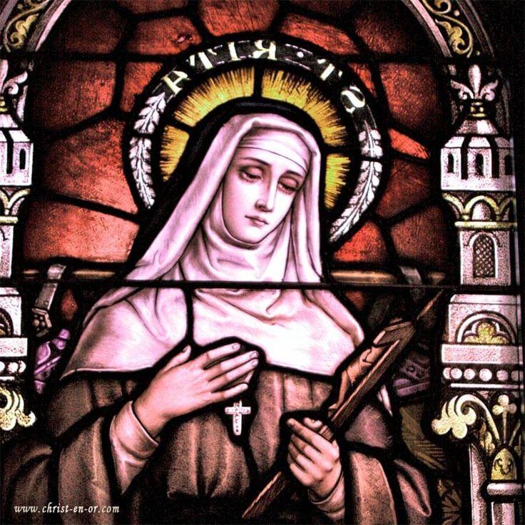 Bougie neuvaine Sainte Rita de Cascia - CHRIST-EN-OR