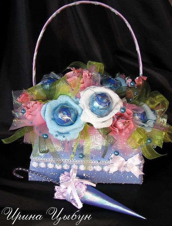 cestas flores y bombones