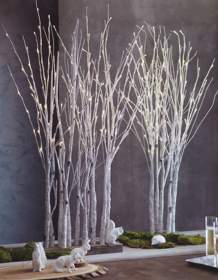 Lighted Birch Tree Forest Tulle Wedding Dresses Front