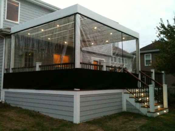 outdoor plastic weather panels clear