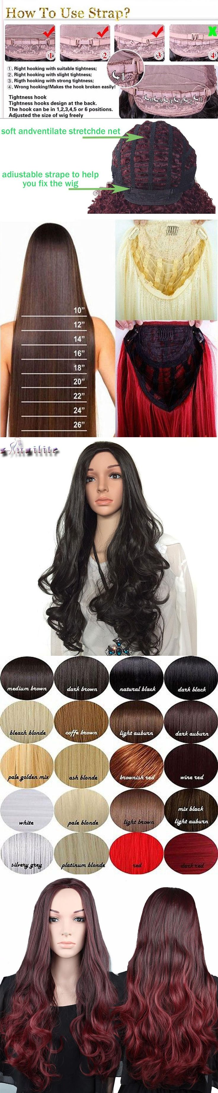 """S-noilite 100% Real Thick Ladies 28"""" Long Curly Half Wig Heat Resistant 3/4 Full Head Wigs Synthetic ombre Black Brown For Women"""