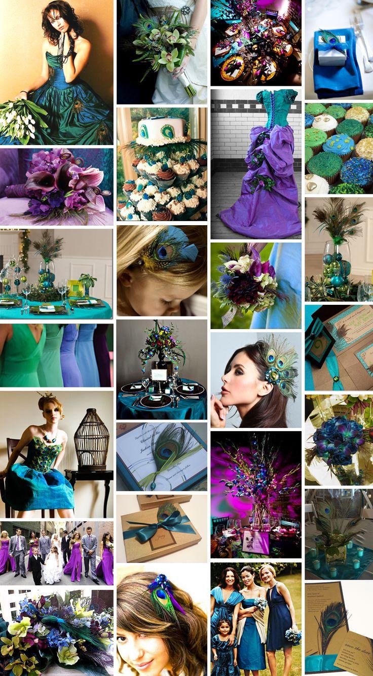 Peacock wedding theme http://girlyinspiration.com/