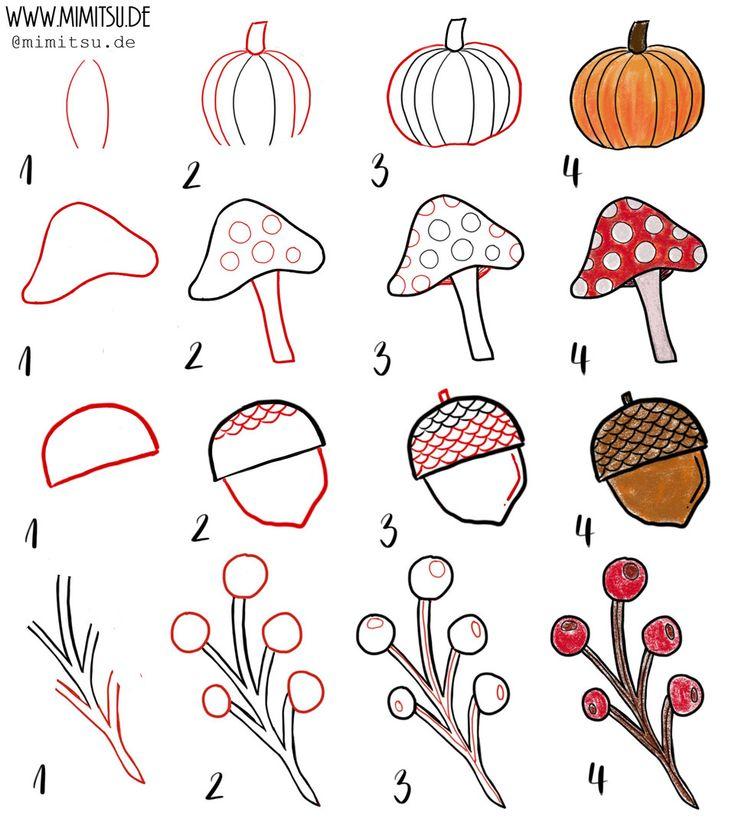 Bullet Journal Herbst – Oktober Setup – Bullet Journal – Doodles – Handlettering – Sketchnotes – Tutorials -Anleitung