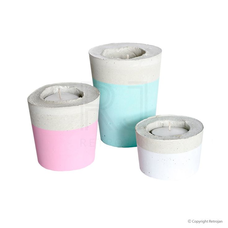 Candle Trios - Mint Pastel, Pink, White | $54.95