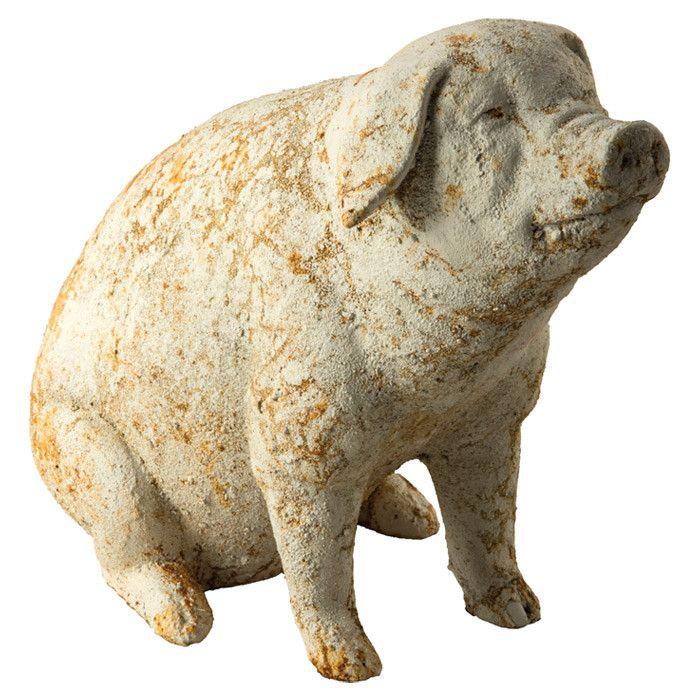 Sitting Pig Garden Statue