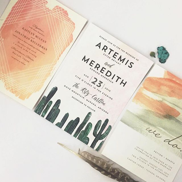 martha_weddings: We got a special delivery from @minted! We're loving the…