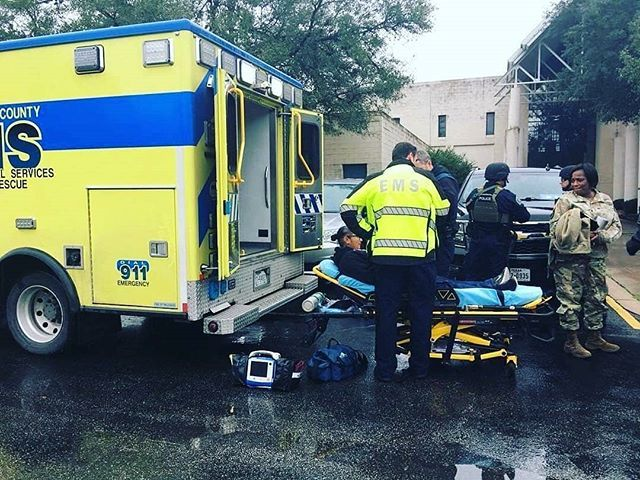 CHECK IT OUT   @zollemsfire -  Our friends from @atcemsmedics along with Texas Military Department Austin Police Department and Austin Fire Department took part in the annual active shooter drill at Camp Mabry this week.  The focus was on evacuation and medical treatment of 10 victims.  Two #ATCEMS ambulance crews  and a commander took part in the drill.  #zolldier #trainhowyoufight #savinglives