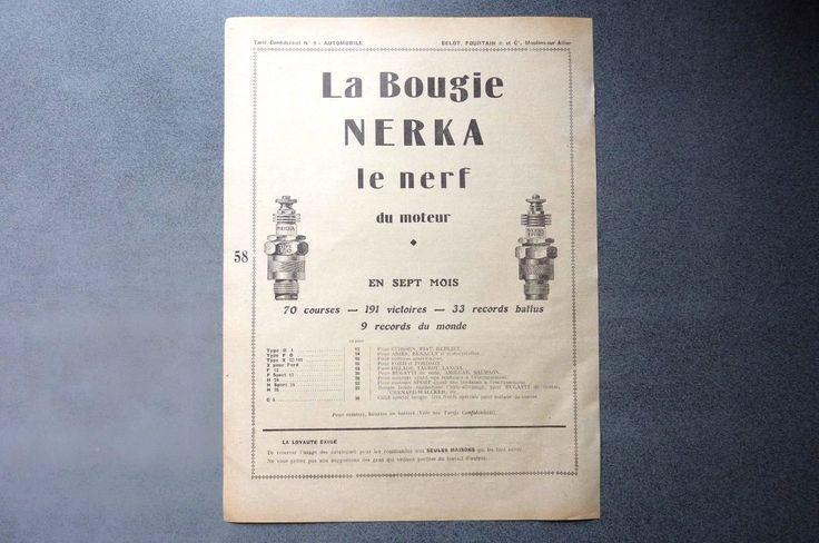 Publicité papier-LA BOUGIE NERKA -BOUGIES CHAMPION 1927 Réf 05 | Collections, Objets publicitaires, Publicités papier | eBay!