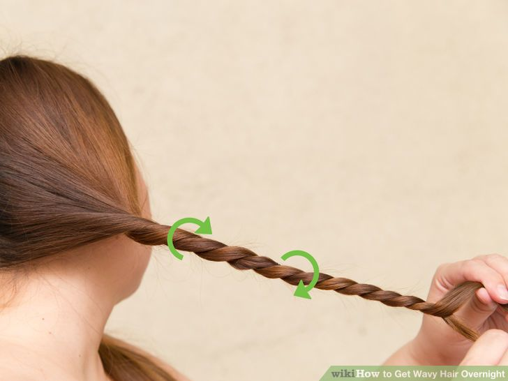 how to get hair wavy overnight without braiding