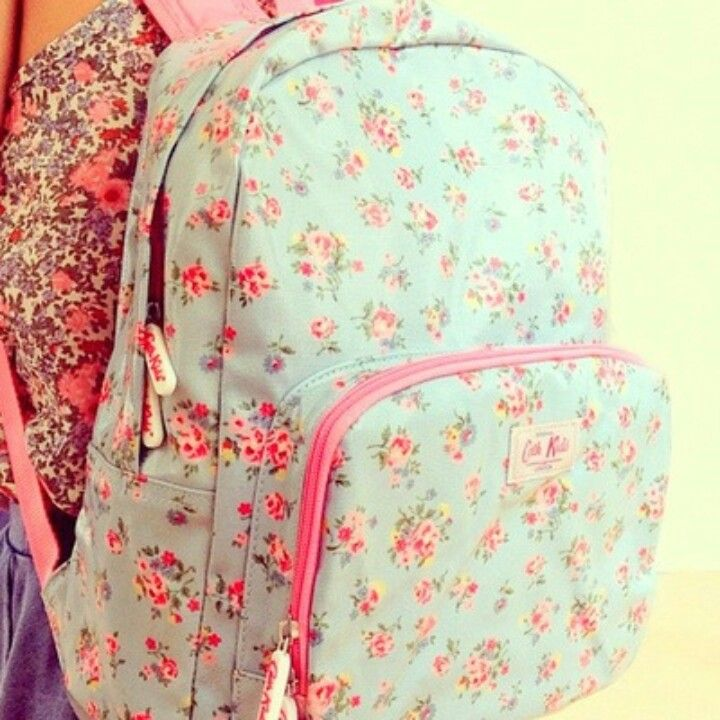 girly floral little backpack ♡