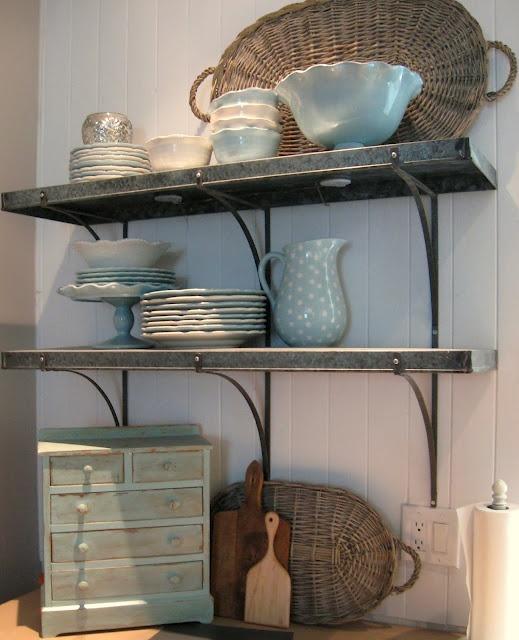 {d reyne's  love these metal shelves} galvanized metal shelves, custom.
