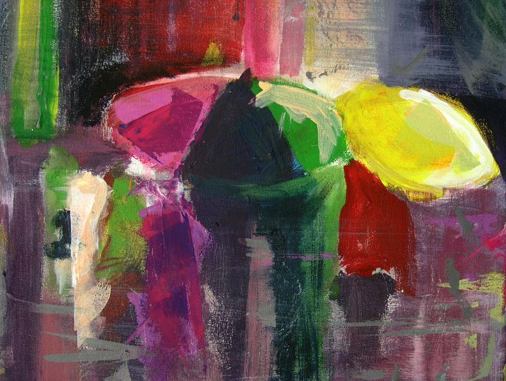 acrylic on canvas - fragment - #acrylic #canvas #umbrella #rain #painting #brush