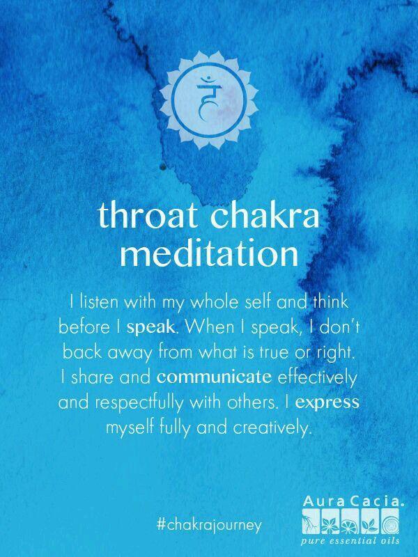 Throat chakra meditation.  #AuraCacia #chakrajourney