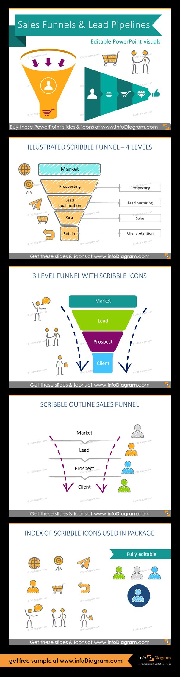 47 best sales marketing graphics and ppt templates images on pinterest sales funnel diagrams and pipeline process charts ppt icons template cheaphphosting Choice Image