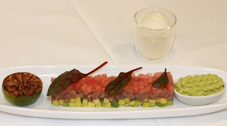 iSi - Tuna Tartar with Guacamole and Ginger Espuma -