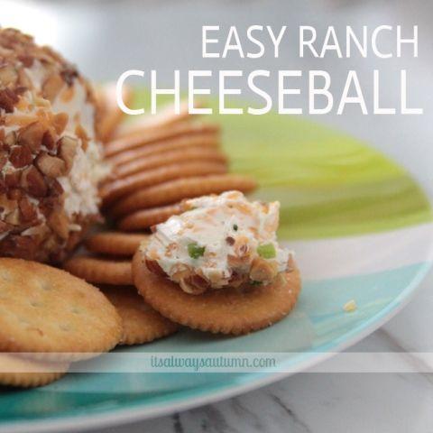 easy ranch cheeseballrecipe - It's Always Autumn
