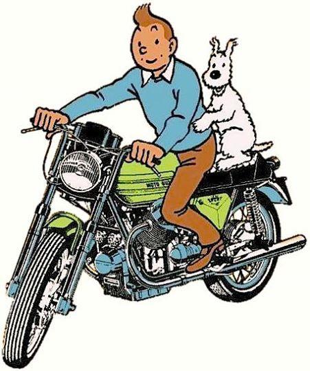 1973 • Accroche toi Milou ! Autocollant publicitaire « samo chips ».