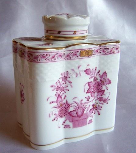 Antique porcelain Herend tea caddy