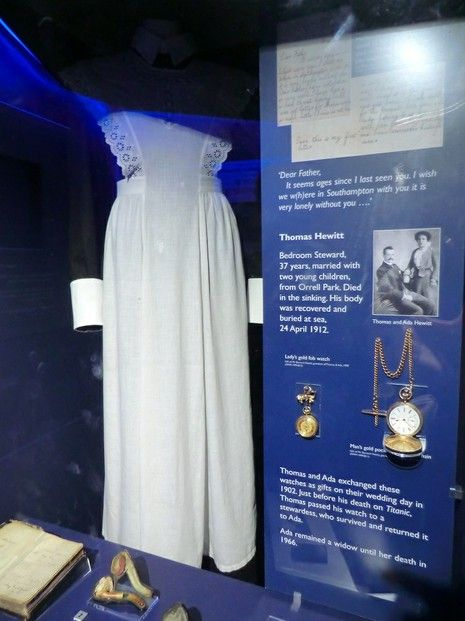 This dress really got to me at the Merseyside Maritime Museum. It was worn by a Titanic survivor as she got into her lifeboat. http://wizzley.com/titanic-exhibition-merseyside-maritime-museum/